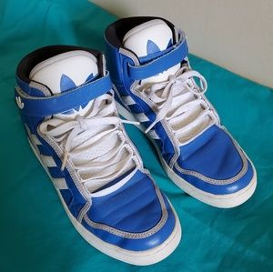 Adidas Royal Blue High Top Women's Size 9 Sneakers